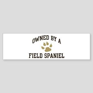 Field Spaniel: Owned Bumper Sticker