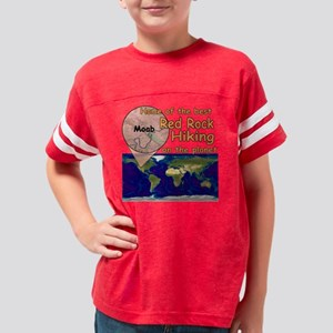 moab hike earth K 10x10 Youth Football Shirt