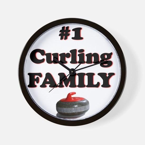 #1 Curling Family Wall Clock