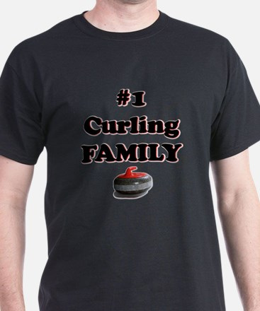 #1 Curling Family T-Shirt