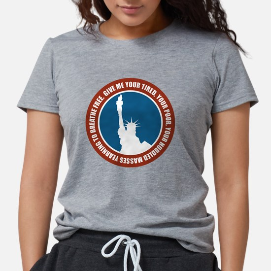Cute Statue liberty Womens Tri-blend T-Shirt
