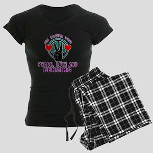 I am voting for Peace, Love Women's Dark Pajamas