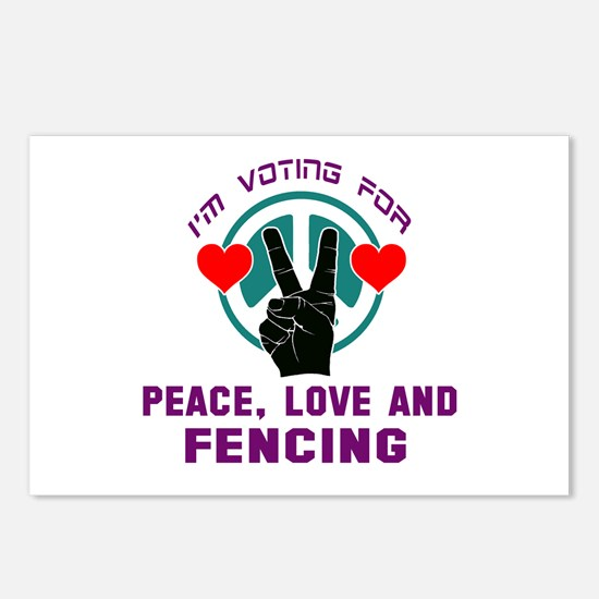 I am voting for Peace, Lo Postcards (Package of 8)