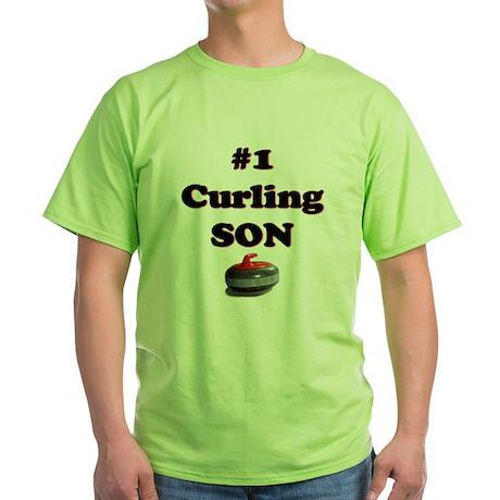 #1 Curling Son Green T-Shirt