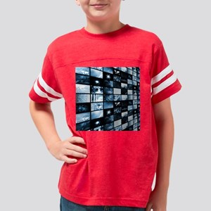 Futuristic Digital Youth Football Shirt