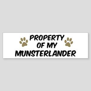 Munsterlander: Property of Bumper Sticker