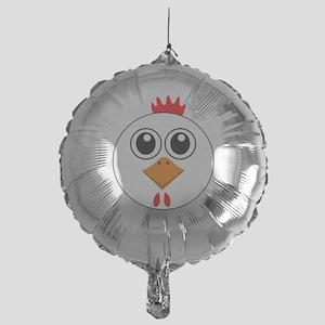 Cartoon Chicken Face Balloon