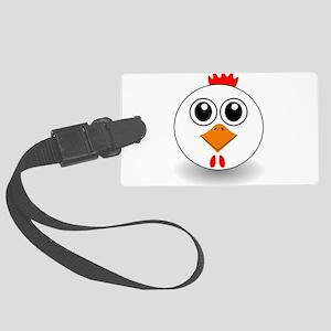 Cartoon Chicken Face Luggage Tag