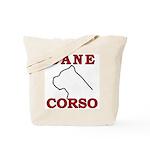 Cane Corso Logo Red Tote Bag