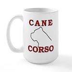 Cane Corso Logo Red Large Mug