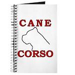 Cane Corso Logo Red Journal