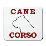 Cane Corso Logo Red Mousepad