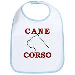 Cane Corso Logo Red Bib