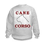 Cane Corso Logo Red Kids Sweatshirt