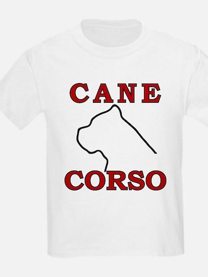Cane Corso Logo Red T-Shirt