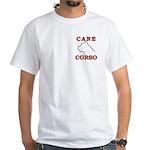 Cane Corso Logo Red White T-Shirt