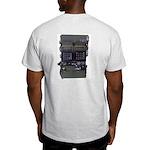 PRC319 BACK. HFPACK MAN FRONT. Grey T-shirt