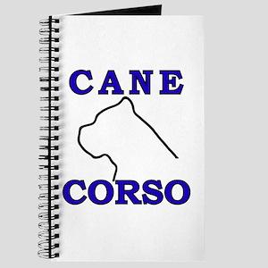 Cane Corso Logo Blue Journal