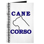 Cane Corso Logo Blue Journal