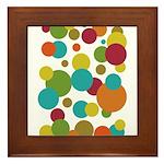 Retro Dots Framed Tile