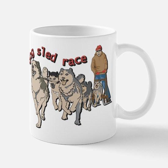 Dog sled race Mug