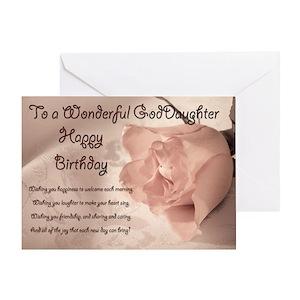 Goddaughter Greeting Cards Cafepress
