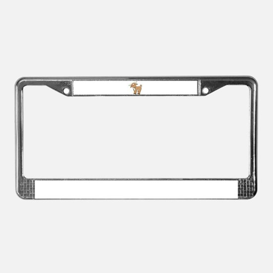 Cartoon Billy Goat License Plate Frame