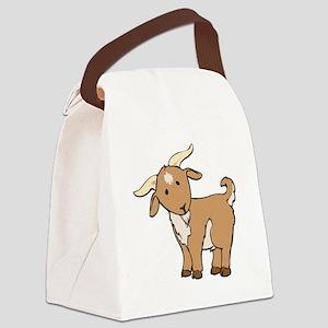 Cartoon Billy Goat Canvas Lunch Bag
