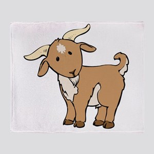 Cartoon Billy Goat Throw Blanket