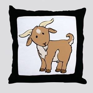 Cartoon Billy Goat Throw Pillow