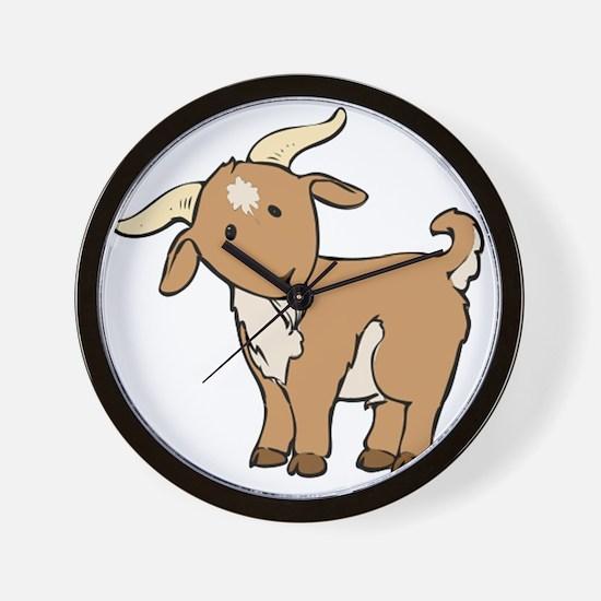 Cartoon Billy Goat Wall Clock