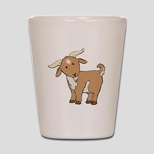 Cartoon Billy Goat Shot Glass