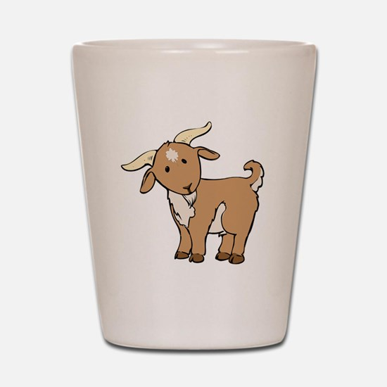 Cartoon Billy Goat Shot Glass