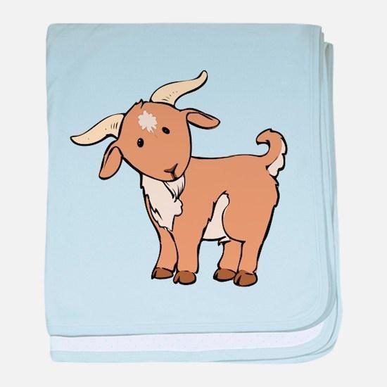 Cartoon Billy Goat baby blanket