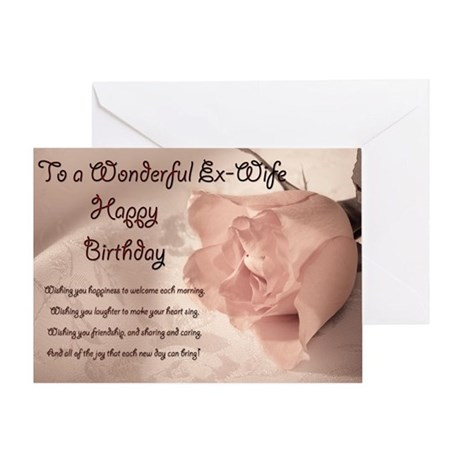 For Ex Wife Elegant Rose Birthday Card Greeting By SuperCards
