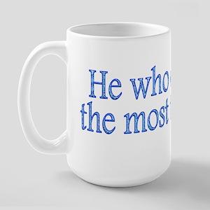 Most Toys Wins! Large Mug