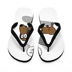 Fear Me Wiener Dog Flip Flops