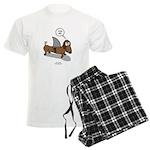 Fear Me Wiener Dog Men's Light Pajamas