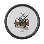 Fear Me Wiener Dog Large Wall Clock