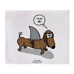 Fear Me Wiener Dog Throw Blanket
