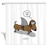 Fear Me Wiener Dog Shower Curtain