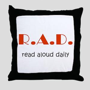 Read Aloud Daily Throw Pillow