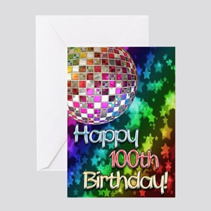 100th birthday disco ball and rainbow of stars Gre