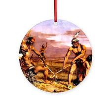Wicked Sticks Lacrosse Round Ornament