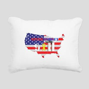 Never Forget 9-11 Rectangular Canvas Pillow