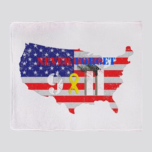 Never Forget 9-11 Throw Blanket