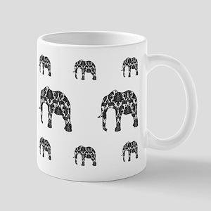 Damask Elephant Pattern Mug