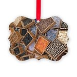 Glass Beads Picture Ornament