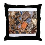 Glass Beads Throw Pillow