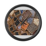 Glass Beads Large Wall Clock